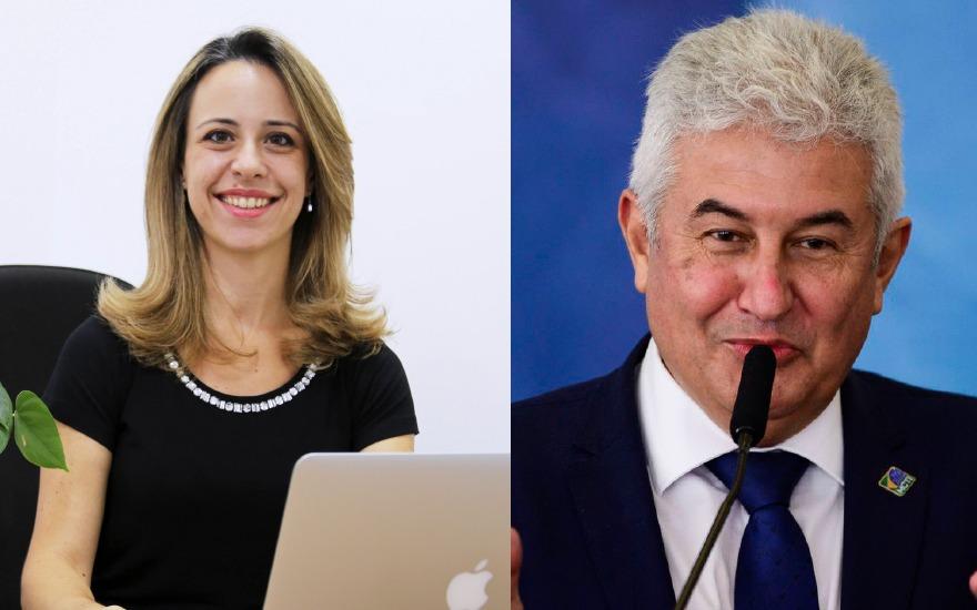 Helena Faccioli, CEO da Farmacore, e Marcos Pontes, ministro da Ciência, Tecnologia e Inovações