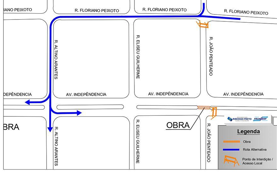Revide, Novo trecho da avenida Independência será interditado nesta terça-feira,  14, interdição, avenida, independência, obras, ribeirão, mobilidade, ribeirão, preto,